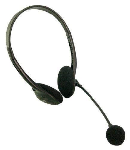 Stereo Headset Kopfh?rer mit Mikrofon Easy - Headset mit eigenem Laust?rkeregler - Frequenz 8 bis 22.000 Hz - Kabel geschirmt ca. 1,8 Meter L?nge