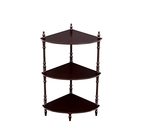 Frenchi Home Furnishing 3-Tier Corner Stand, Cherry