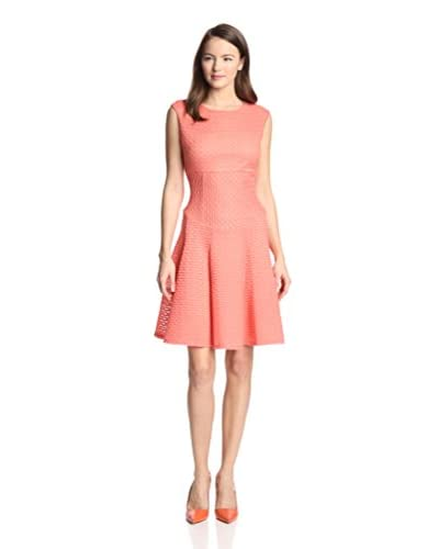 Gabby Skye Women's Textured Fit & Flare Dress