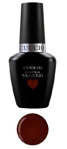 Uv Led Nail Polish Gel 13ml Cuccio Veneer Red Eye To Shanghai Dark Red by Cuccio