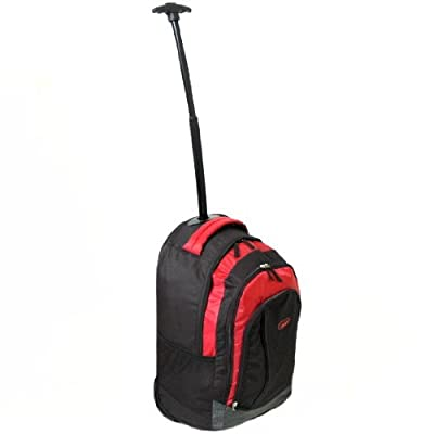 Azure Cabin Approved Wheeled Backpack (Black/Red) from Azure