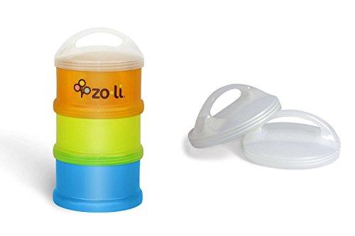 "Zoli ""Sumo"" Baby Bundle - 1 Formula & Snack Dispenser + 2 Lids - 1"