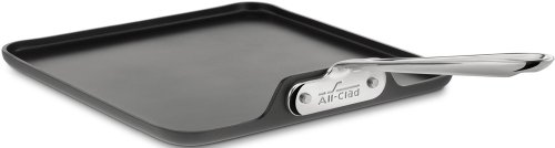 All-Clad 3021 Hard Anodized Aluminum Scratch Resistant Nonstick Anti-Warp Base Square Griddle Specialty Cookware, 11-Inch, Black (Caphalon Ceramic Griddle compare prices)