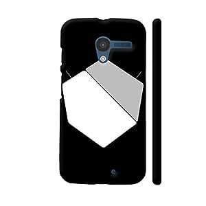 Colorpur Unnatural Pentagon On Black Designer Mobile Phone Case Back Cover For Motorola Moto X1 | Artist: Chirag Vaghela