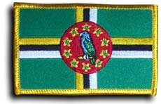 Dominica - Country Rectangular Patches - Buy Dominica - Country Rectangular Patches - Purchase Dominica - Country Rectangular Patches (Flagline.com, Home & Garden,Categories,Patio Lawn & Garden,Outdoor Decor,Banners & Flags)