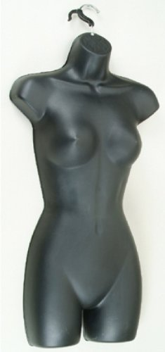 Brand New High Quality Female Wall Hook Hanging Mannequins Black Box of 3 (77B)