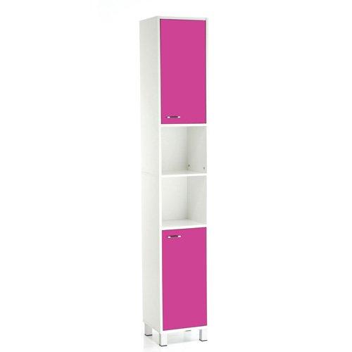 Säulenschrank für Badezimmer, High Glossy-H 1,9 m-Framboise jetzt kaufen