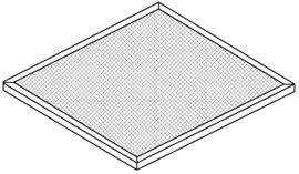 Jenn Air 707929 Range Hood Filter Replacement 11 3/8 X 14 X 3/32