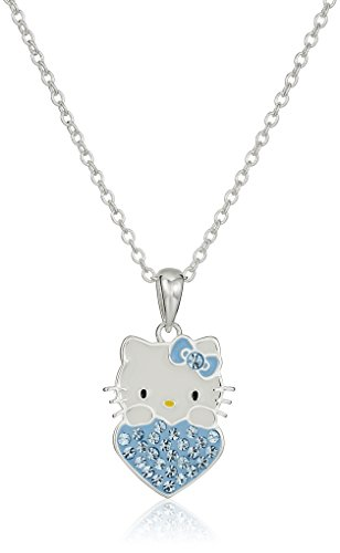 Hello-Kitty-Girls-Crystal-Birthstone-Heart-Pendant-Necklace-18