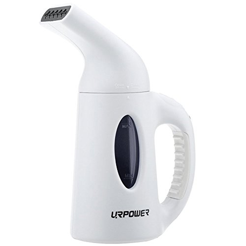URPOWER Garment Steamer 130ml Portable Handheld Fabric Steamer Fast Heat-up Powerful Travel Garment Clothes Steamer with High Capacity for Home and Travel, Travel Pouch Included (Travel Size Clothes Steamer compare prices)