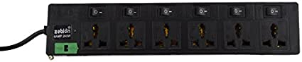 Zebion-Pure-Power-TRI--6S-6-Socket-Spike-Surge-Protector