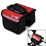 BOI Bicycle Top Tube Double Bag Red