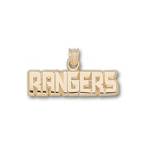 New York Rangers 10K Gold RANGERS 1/4 Pendant