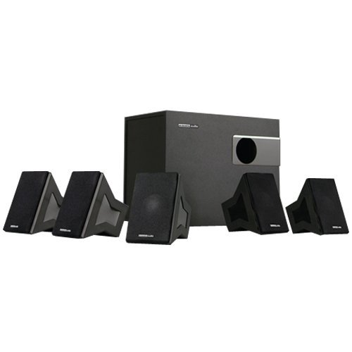 Acoustic Audio Aa5550 Home 500 Watt 5.1 Speaker System With Bluetooth And 5 Extension Cables 5550B-5