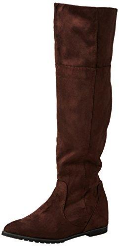 Spot OnF4366 - Stivaletti sopra al ginocchio donna , Marrone (Brown (Brown M/F)), 38