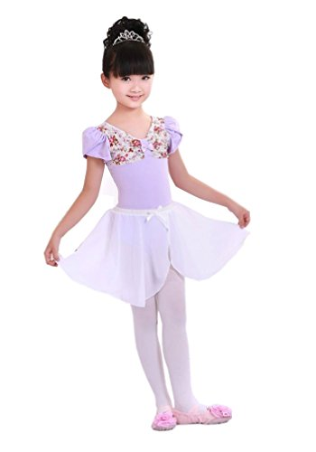 Tm Girl Kids Cute Bow-Knot Multi Layer Camisole Tulle Ballet Dresses White