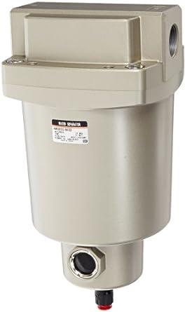 "SMC AMG650-N10D Water Separator, N.O. Auto Drain, 6,000 L/min, 1"" NPT"