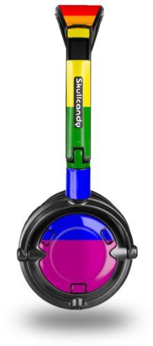 Skullcandy Lowrider Headphone Skin - Rainbow Stripes - (Headphones Not Included)
