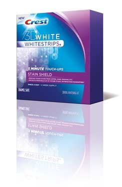 Crest 3D White Whitestrips Whitening Kit, Dental, Stain Shield, 28 ct.