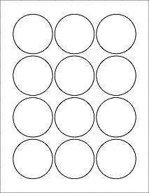 6 sheets 72 2 1 4 round circle white for 1 inch circle template free