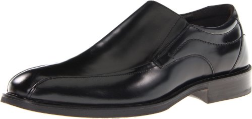 Johnston & Murphy Men's Alderson Run Off Venetian Slip-On,Black Italian Calfskin,13 M US