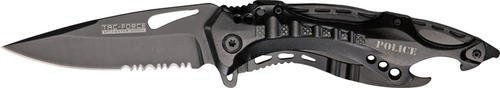 Tac Force TF-705BK Tactical Assisted Opening Folding Knife 4.5-Inch Closed