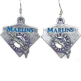 MLB Dangle Earrings - Florida Marlins