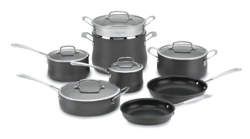 Cuisinart 64-13 Contour Hard Anodized 13-Piece Cookware Set (Pan Set Anodized compare prices)