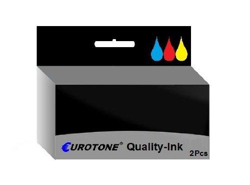 Tinten Patrone für Canon Pixma MP630 MP640 MP640R MP980 MP990 - ersetzt 2x CLI-521 Photo-Black 10,5 ml Drucker Patronen - kompatible Premium Alternative - non oem
