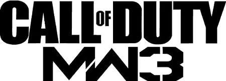 Call of Duty MW3 6 Inch Black Decal Sticker Xbox 360 Best Game Modern Warfare 3