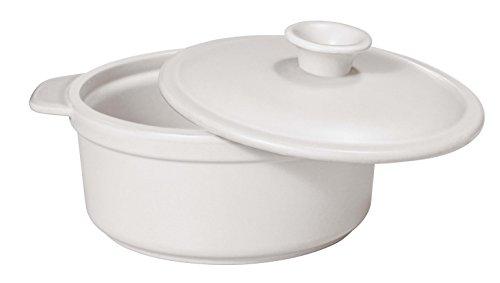 Paderno World Cuisine White Ceramic Cocotte, 1-Quart