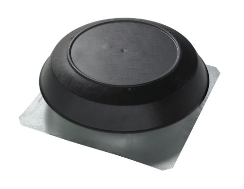 Broan 355BK 1200 CFM Roof Mount Powered Attic Ventilator, Black PVC Dome