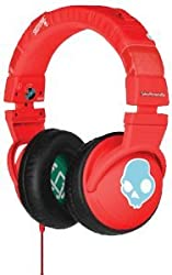 Skullcandy S6HEDY-059 Over-Ear Headphone with Mic (Red)