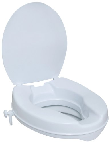 NRS Raised Toilet Seat with Lid - 10 cm (4 inches) Height