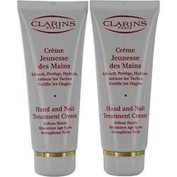 Clarins by Clarins Hand & Nail Treatment Cream--100ml/3.5oz ( Package Of 2 )