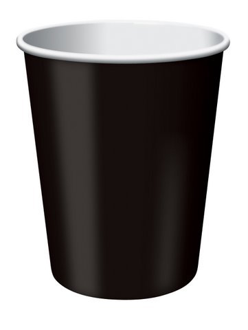 Black 9oz Paper Cups 20ct