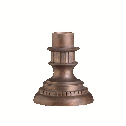 Kichler Lighting  9531LZ Cast Aluminum Outdoor Pedestal Mount Adaptor, Legacy Bronze (Outdoor Pedestal Lights compare prices)