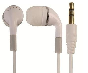 Faucet Adaptor With White Earbud Headphones