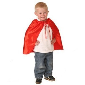 "Kids Red 20"" Superhero Satin Cape"