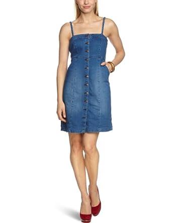ESPRIT - Robe - Femme - Bleu (971 Bright Blue) - FR : 46 (Taille fabricant : XXL)