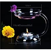 Candlestick Candle Holder Aroma Oil Burner Warmer Stove Table Pray Decor