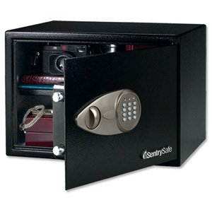 Sentry X125 Security Safe Electronic Lock 4mm Door 2mm Walls 34 Litre 15.9kg W430xD370xH270mm Ref X125