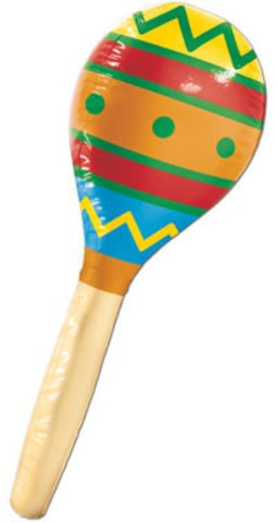 Beistle 57897 inflatable Maraca, 30-Inch