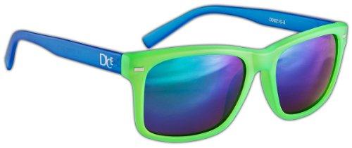 Dice - Occhiali da sole, Multicolore (Verde/blu), Taglia unica