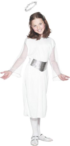 Christmas New Girls/Kids Angel Christmas Fancy Dress Costume Ages Years 6/8