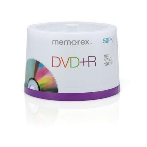 Memorex DVD+R 16x 4.7GB 50 Pack Spindle