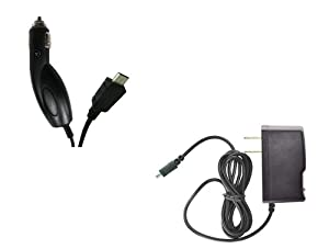 LG G2x (T-Mobile) Premium Combo Pack - Wall Charger + Car Charger + FREE Atom LED Keychain Light