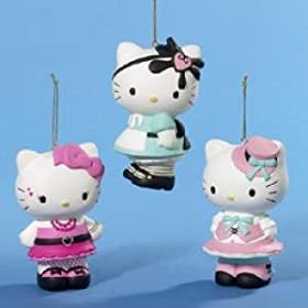 Hello Kitty Lolita Holiday Ornament - ONE ORNAMENT - Assorted Styles and Colors