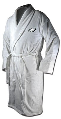 McArthur Sports Philadelphia Eagles Team Logo Embroidered Bath Robe One Size Fits Most