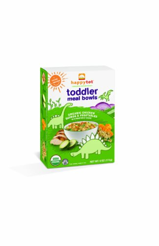 Happy Tot Organic Toddler Meal Bowls, Chicken Vegetables And Quinoa, 6 Oz (Pack Of 12)